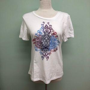 Sansara | Women's Mandala Design Tee | White